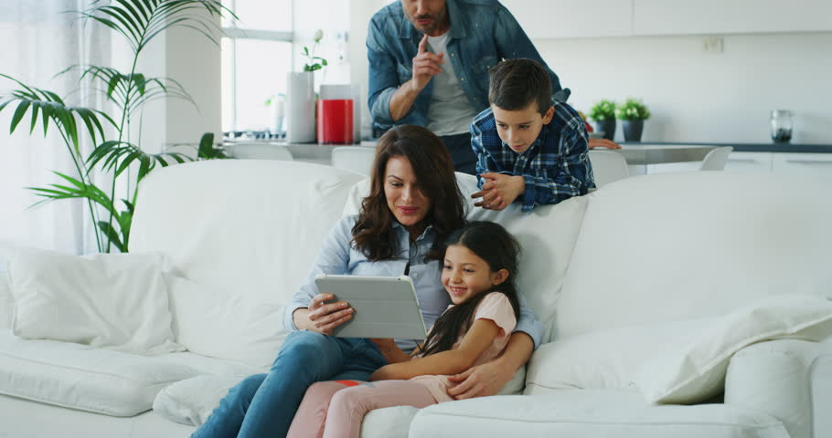 Portrait of Happy Family Having Stock Footage Video (100% Royalty-free)  1020812317 | Shutterstock