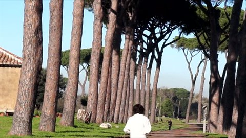 Parco degli Acquedotti: Park of the Aqueducts in Rome, Italy- December 11,2018