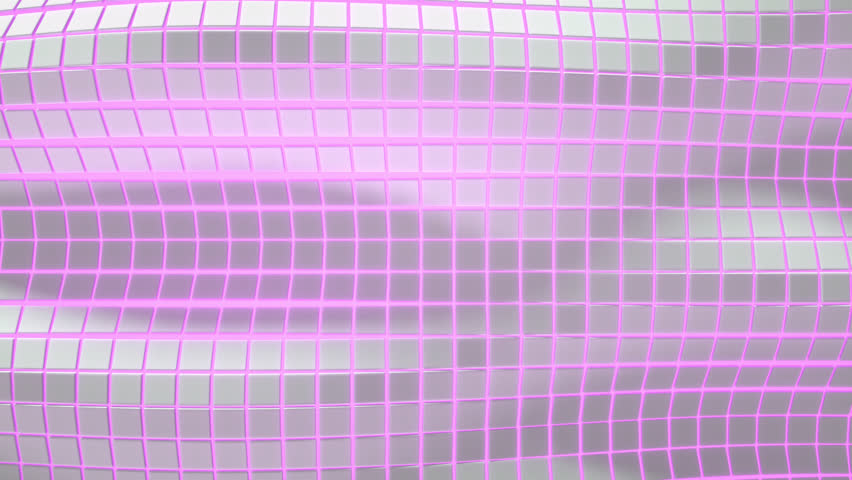 Wavy surface made of white cubes with purple glowing background. Abstract geometric  animation loop.3D rendering | Shutterstock HD Video #1020827377