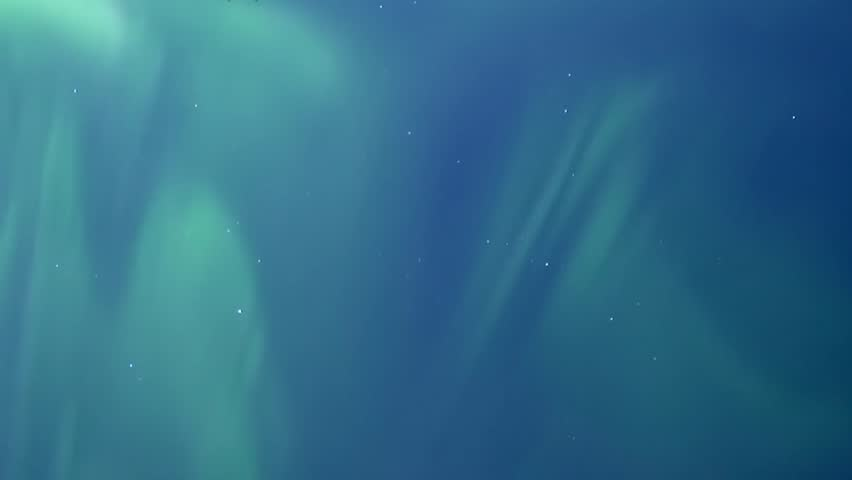 Green aurorora borealis, northern light in horizon, time lapse clean weather, starry beautiful sky in night horizon. | Shutterstock HD Video #1020864667
