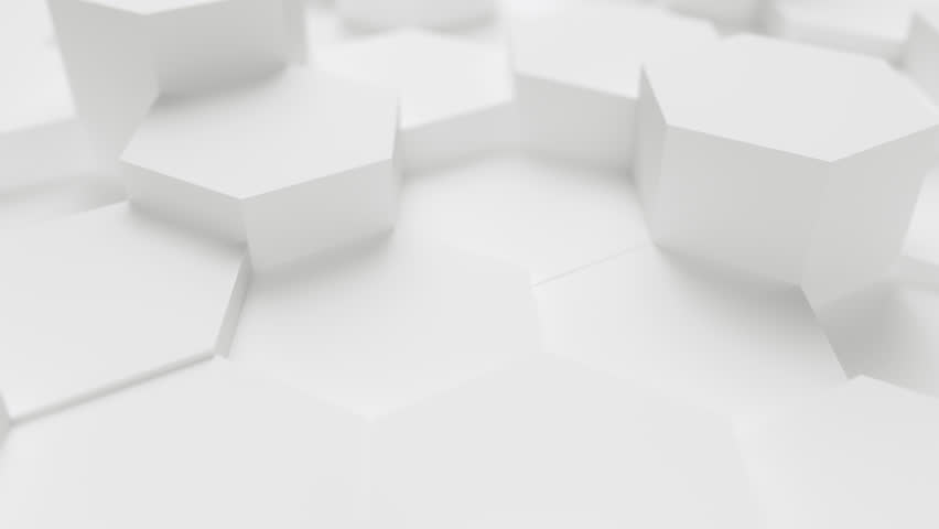 Technology hexagon pattern background - 4k seamless loop 3D rendering | Shutterstock HD Video #1020873577