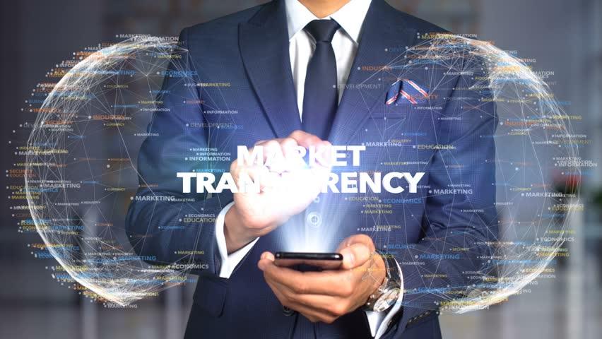 Businessman Hologram Concept Economics - Market transparency   Shutterstock HD Video #1020895567