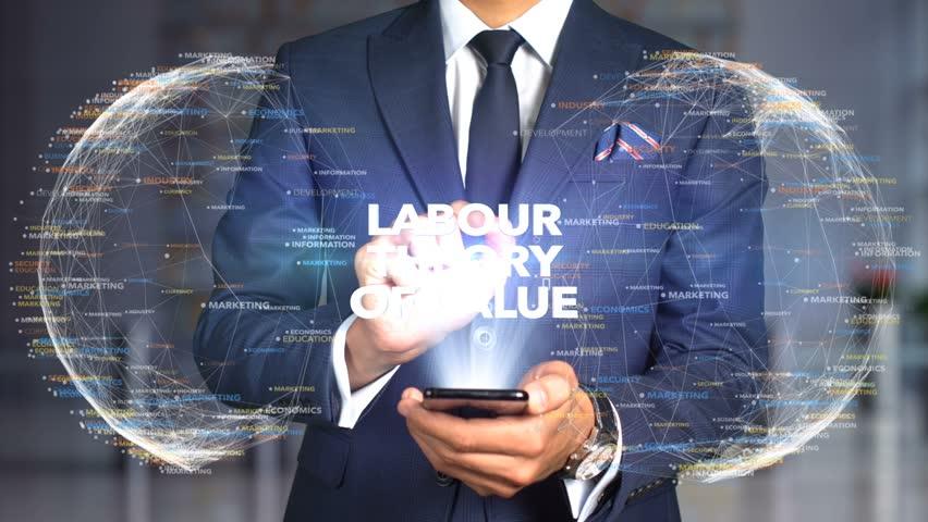 Businessman Hologram Concept Economics - Labour theory of value   Shutterstock HD Video #1020895657