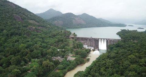 4K - Kerala Dam - Thenmalla Dam - Aerial Footage - Kerala Tourism