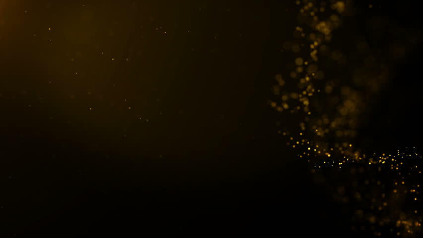Background gold movement. Universe gold dust with stars on black background. Motion abstract of particles. | Shutterstock HD Video #1021082227