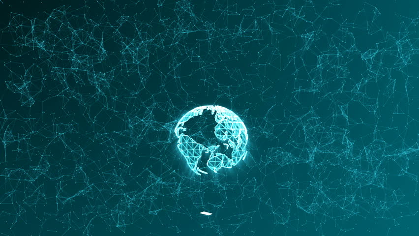Egg formed from lines and points, with the planet Earth inside, abstract animation | Shutterstock HD Video #1021135927