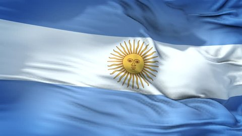 loopable 4k 60fps Full Screen Argentina Flag  Waving Slowly