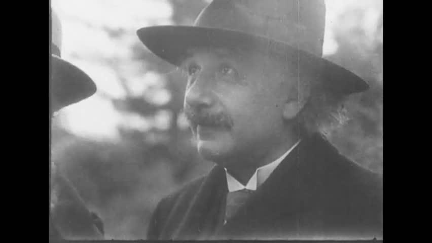 San Diego, United State of America. About 1931. Close up of Albert Einstein