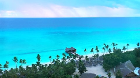 Aerial view of beach resort in La Romana, Bayahibe, Dominican Republic
