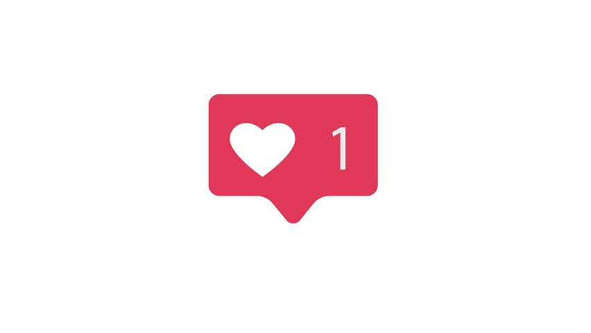 Pink Like Icon On White Background. Like Counting for Social Media 1-5M Likes. 4K video.    Shutterstock HD Video #1021460887