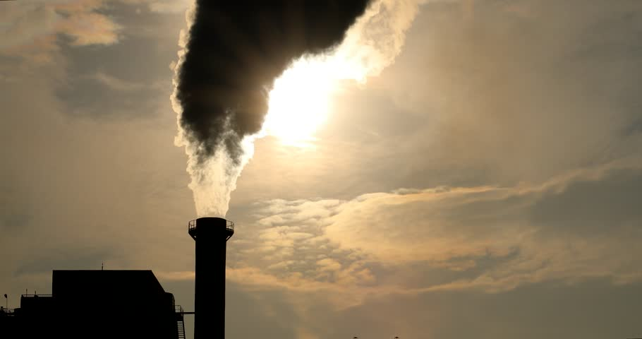 Industry Pipes Pollute the Atmosphere With Smoke, Ecology pollution, Industrial factory pollutes, smoke stacks and exhaust pipes,Top Industry Sources, The World's Most Polluting Industries, news media