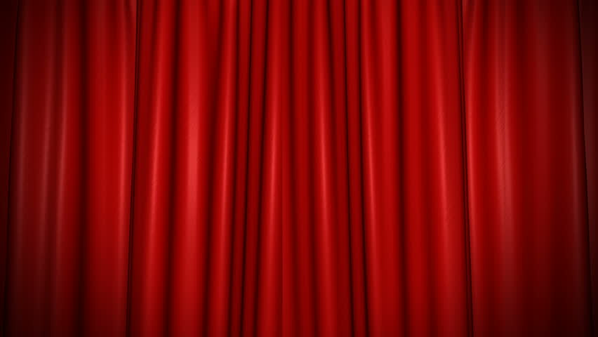High-resolution 3D animation of the red velvet theatre curtains opening (alpha channel included) | Shutterstock HD Video #1021712917