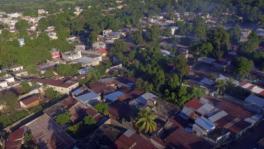 aerial view of slums in Guatemala