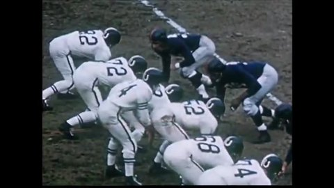 New York, United States of America. About 1956. New York Giants football game
