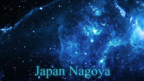 Simple zoom in from space to the Earth and focus on Japan Nagoya