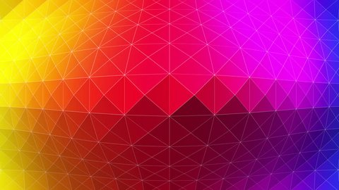 Abstract 3D animation of triangles rippling upwards towards the camera and spreading outwards from the centre. Created in 4k.