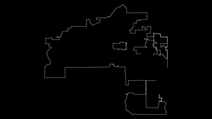 Mesa Arizona city map outline animation | Shutterstock HD Video #1022362807