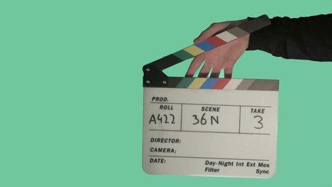 Clapperboard Green Screen Footage