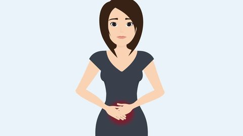 How to relieve stomach (menstrual) pain during period. Gynecology 2d animation