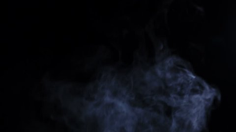 Smoke abstract. Smoke cloud. White smoke on black background. Cigarette smoke. Fog background. Use blending mode (screen)