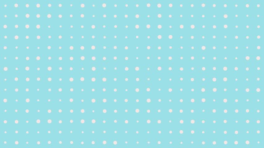 Simple Polka Dot Background Loop Stock Footage Video 100