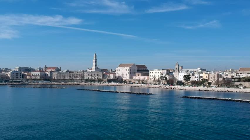 Panorama su Bari Vecchia e Basilica San Nicola