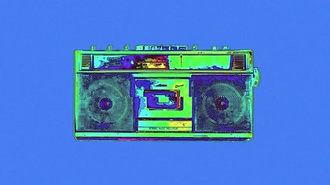 Colorful radio cassette animation