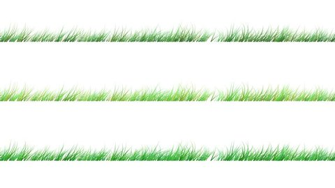 Animation of windy grass with luma matte. 3 different versions of colors.  8 seconds followed by the black and white luma matte. 3D Render. ProRes 422. 25fps