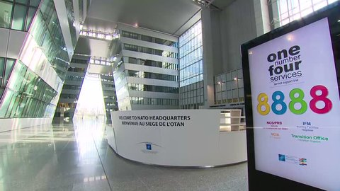 USA, IRCA 2010s - Access to B-roll footage of the new NATO headquarters (New NATO HQ interiors)