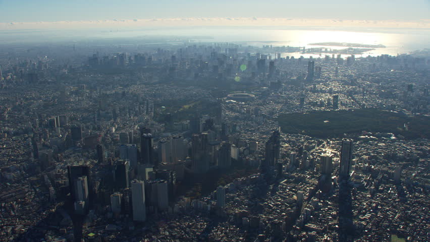 Tokyo, Japan circa-2018. High altitude aerial view of Tokyo. Shot from helicopter with RED camera. | Shutterstock HD Video #1022610187