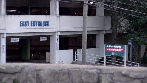 Hospital Emergency Entrance Establishing Shot
