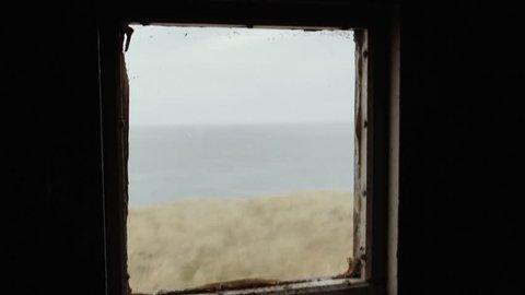 Cape Pembroke Lighthouse - Falkland Islands (Islas Malvinas). View from Inside. Full HD.