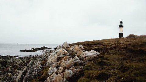 Lighthouse in Falkland Islands.