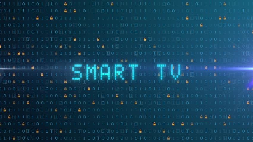 Smart TV, digital animation, blue computing operation | Shutterstock HD Video #1022867437