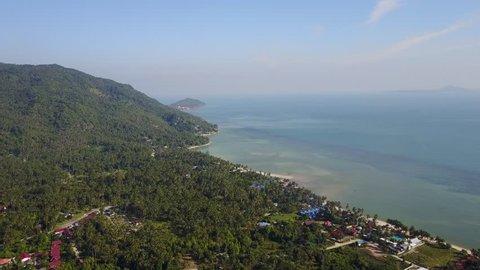 Drone flight over Baan Tai (Koh Phangan, Thailand)