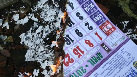 burning calendar in 2018 with dates from Java, Islam, China and AD, Blora, 2 January, 2019