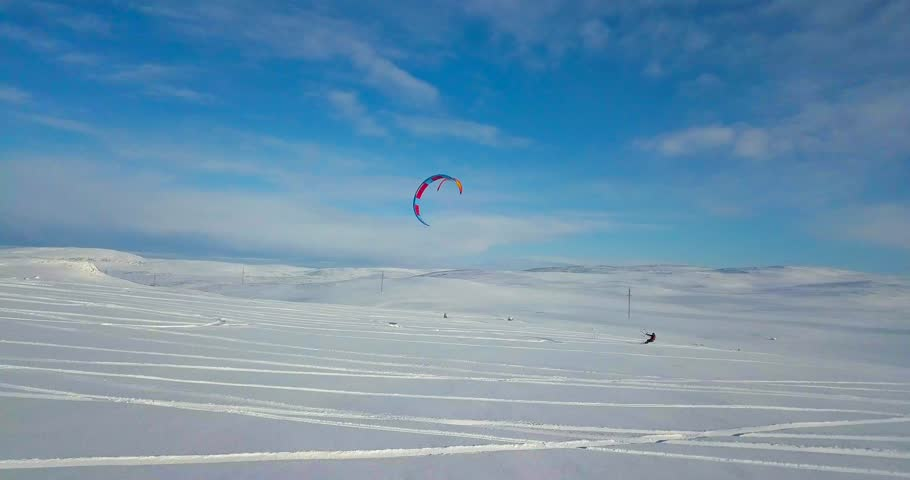 Snowkiting in the North | Shutterstock HD Video #1023150607