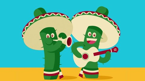 Cinco de Mayo Cactus Mariachis playing guitar and trumpet