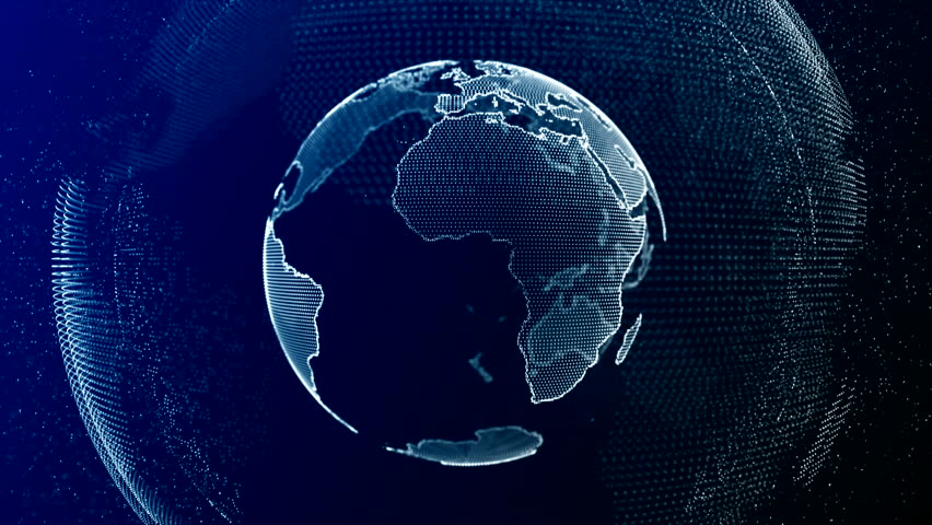 Visible Earth Blue Marble Digital Clouds Earth rotating animation social future technology abstract 3Drendering scientific growth data network surrounding planet earth rotating Digital data globe loop | Shutterstock HD Video #1023330157