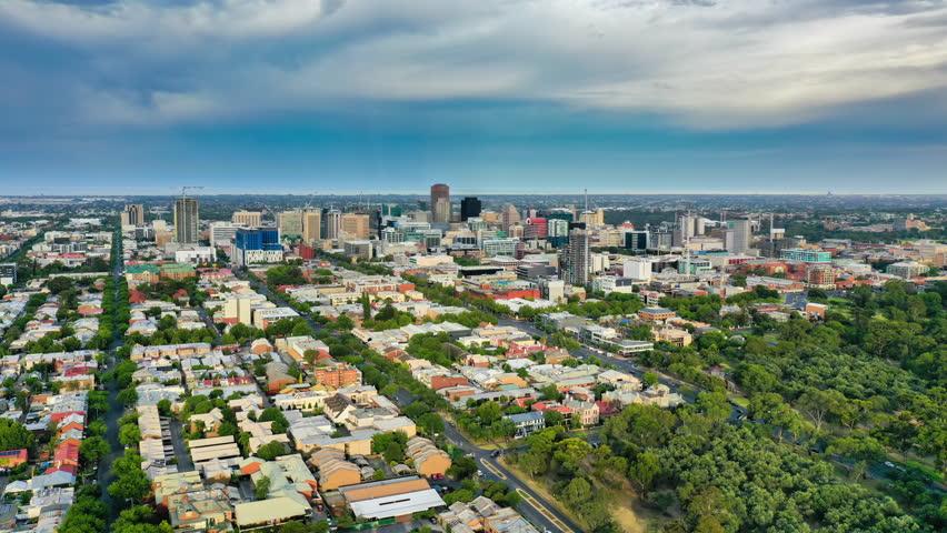 4k aerial hyperlapse video of Adelaide in Australia | Shutterstock HD Video #1023547057