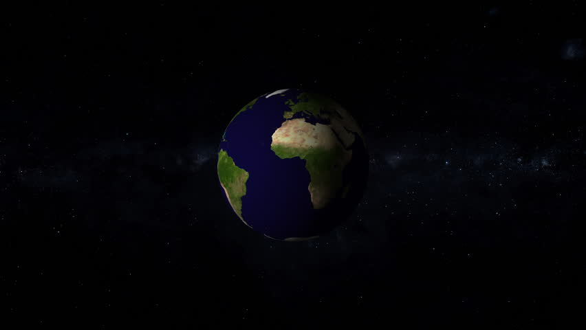 Earth is the third planet from the Sun and the only astronomical object known to harbor life, with stars of the milky way galaxy on background | Shutterstock HD Video #1023561517