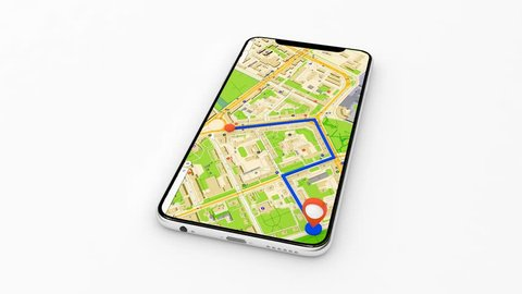 Navigation in the phone, get using the gps navigator