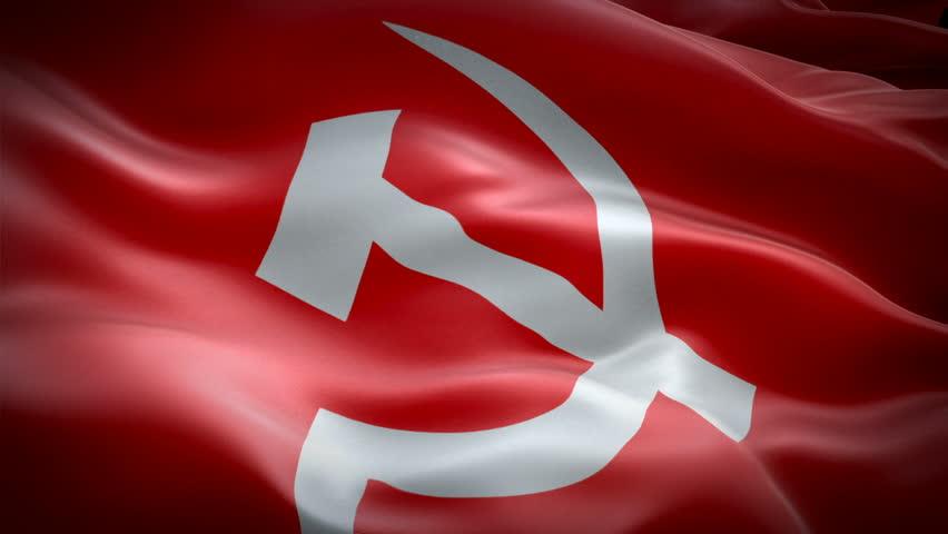 Communist Flag Waving in Wind Stock Footage Video (100% Royalty-free)  1023648607 | Shutterstock