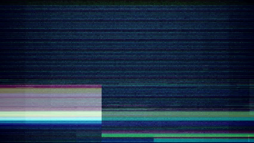 Glitch noise static television VFX. Visual video effects stripes background, tv screen noise glitch effect. Video background, transition effect for video editing, intro and logo reveals with sound. | Shutterstock HD Video #1023671917