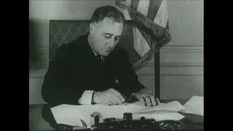 CIRCA 1942 - Newsreel story: History of FDR up to second term