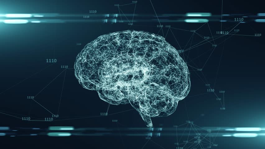 AI Artificial intelligence digital brain bid data deep learning computer machine - render | Shutterstock HD Video #1023871837
