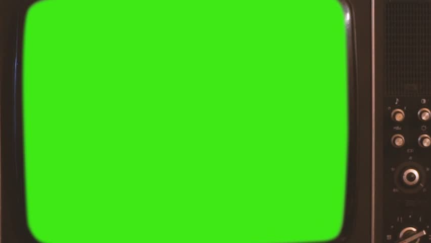 80s Television with Green Screen. You can replace green screen with the footage or picture you want. | Shutterstock HD Video #1023888187