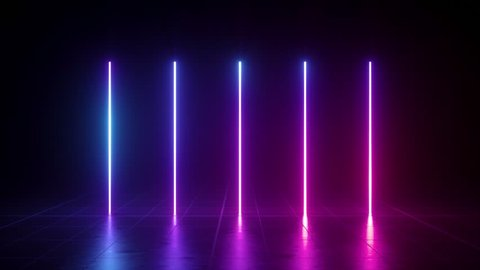 vertical glowing lines, ultraviolet spectrum, pink blue neon lights, laser show, night club, equalizer, abstract fluorescent background, optical illusion, virtual reality