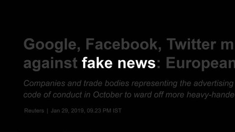 Cluj-Napoca, Romania - FEB 14, 2019: Fake News in the news titles across international media. Fake News concept. Fake News illustrative editorial. Disinformation and alternative facts.