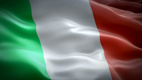 Italy waving flag. National 3d Italian flag waving. Sign of Italy seamless loop animation. Italian flag HD resolution Background. Italy flag Closeup 1080p Full HD video for presentation